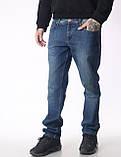 """Мужские джинсы для высоких мужчин 18-742 L: 36"""" темно-синие, фото 4"""