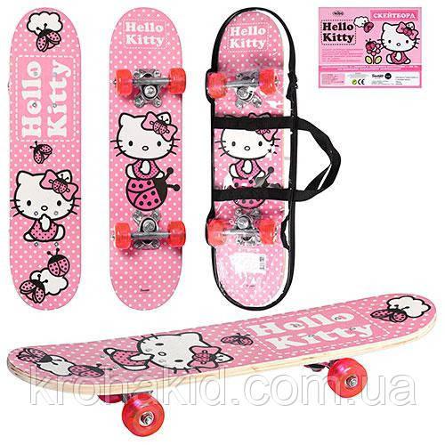 СкейтНК 0052 Holly Kitty Розовый в сумке