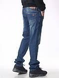 """Мужские джинсы для высоких мужчин 18-742 L: 36"""" темно-синие, фото 6"""