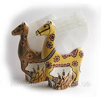 """Салфетница """"Лошадь коричневая"""", фарфор, украинский сувенир, деколь, в ассортименте"""