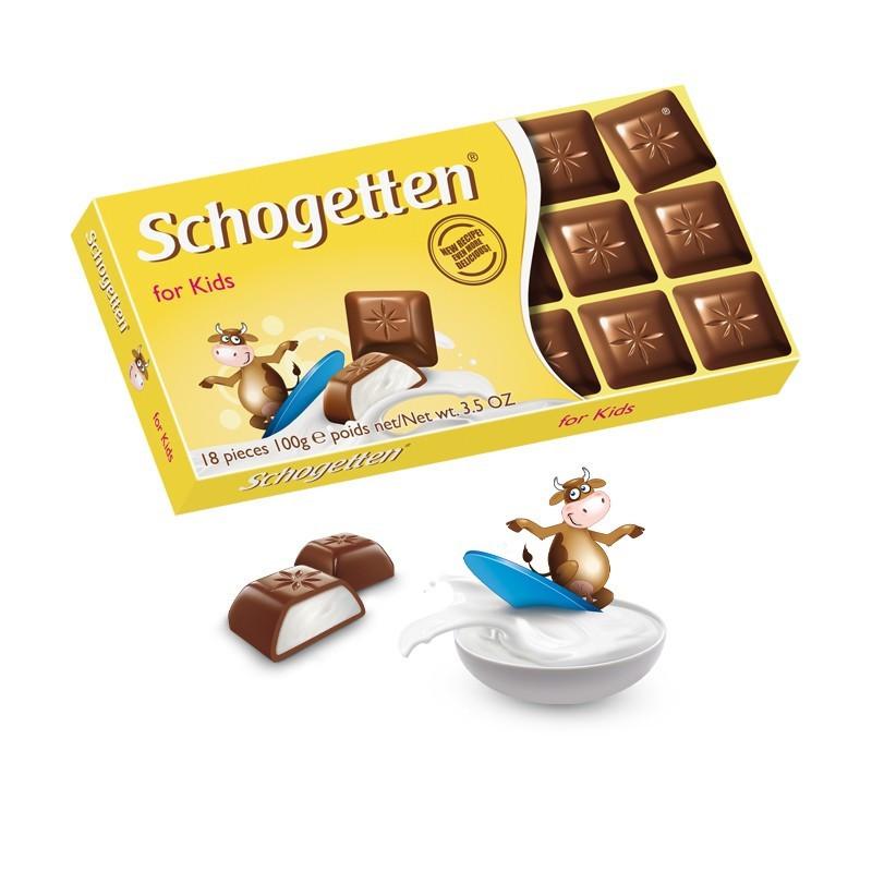 "Шоколад ""Schogetten ""for kids"" (детский Шогеттен), Германия, 100г"