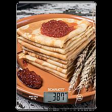 Весы кухонные стильный рисунок SCARLETT SC-KS57P45 сладкие весы до 5 кг платформенные