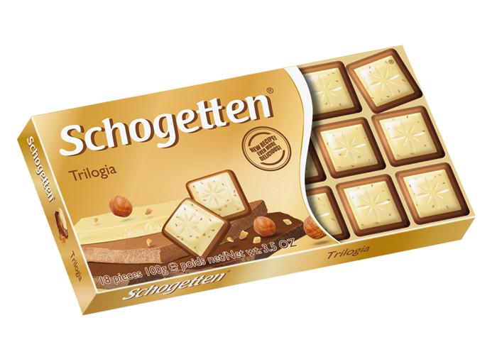 """Шоколад """"Schogetten Trilogia"""" (""""Шогеттен Трилогія""""), Германия, 100 г"""