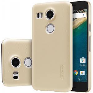 Чехол Nillkin Matte для LG Google Nexus 5x + пленка Золотой (41827)