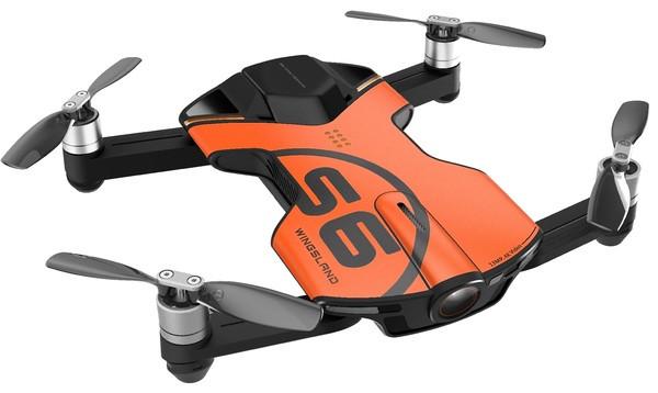Квадрокоптер Wingsland S6 GPS 4K Pocket Drone-2 Batteries Pack Orange (6381695)