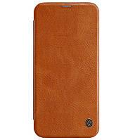 Кожаный чехол-книжка Nillkin Qin Series для Samsung Galaxy J4 Plus (2018) SM-J415F Brown