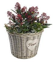 """Горщик для квітів """"Flower"""" з лози Діаметр 40 см"""