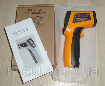 Пирометр пистолет (-50...+600С) инфракрасный термометр с лазерным указателем