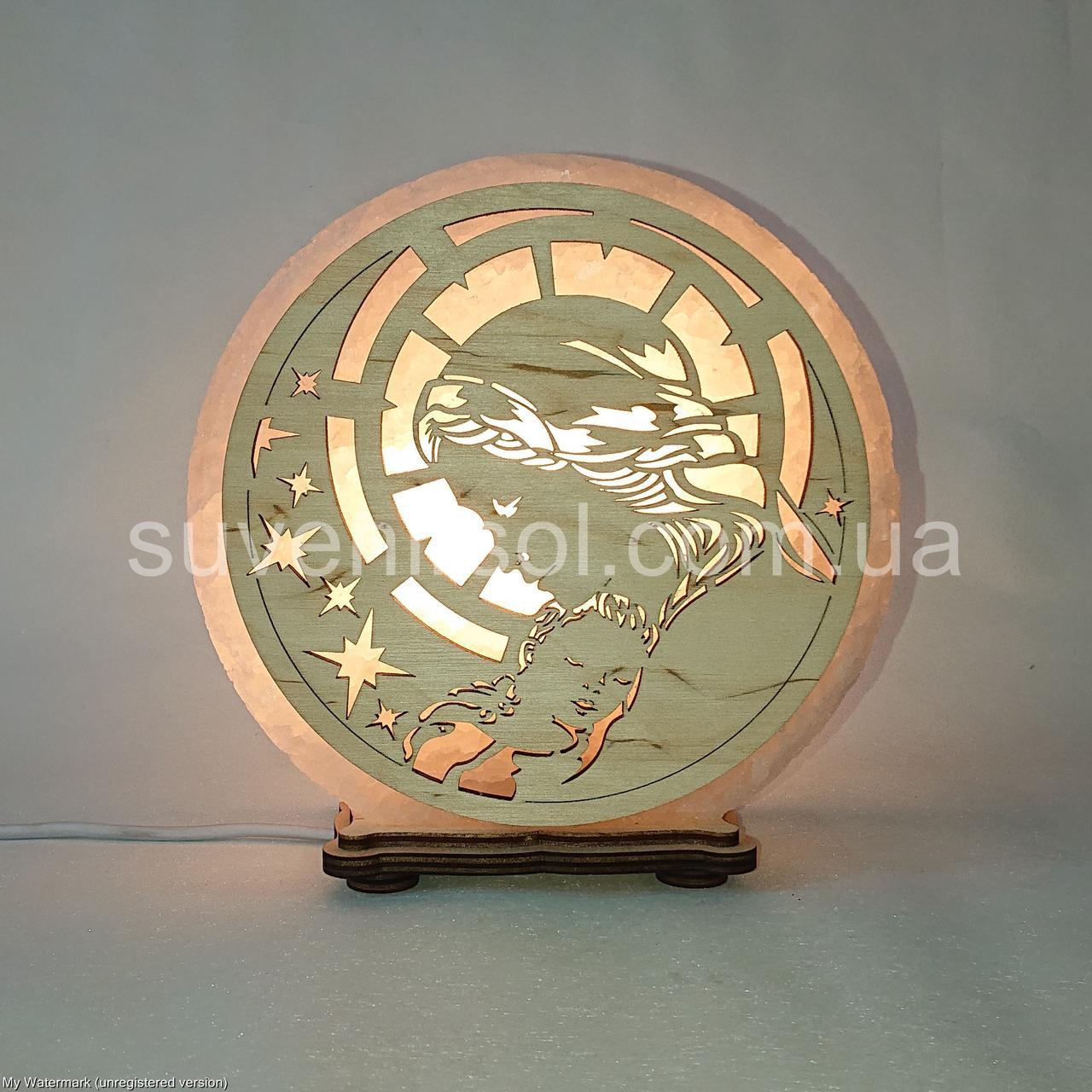 Соляний світильник круглий Богородиця