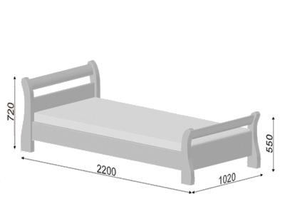 Розміри Ліжко Діана (Бук)