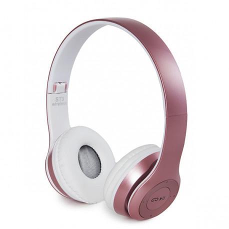 Беспроводные наушники Bluetooth / microSD ST3 4.1+EDR розовый
