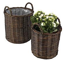 """Горщик для квітів """"RIEL"""" з лози"""