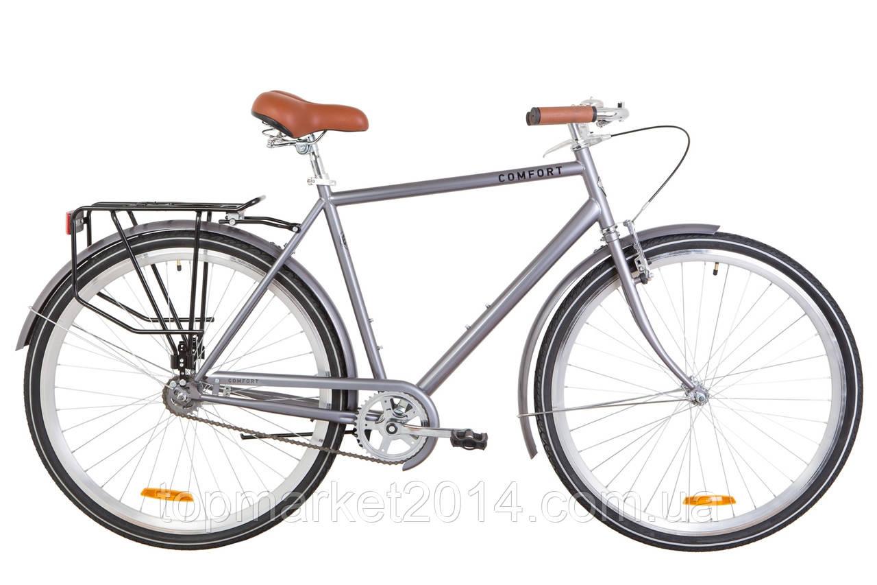 """Чоловічий дорожньо-міський велосипед DOROZHNIK COMFORT MALE 28""""(сірий)"""