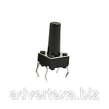 Кнопка DIP микробез фиксации 4 pin 6x6x10 мм