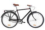 """Чоловічий дорожньо-міський велосипед DOROZHNIK COMFORT MALE 28""""(сірий), фото 3"""