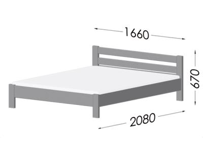 Розміри ліжка Рената (Бук)