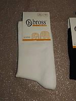 Р. 31-33 ( 7-9 лет ) носочки детские Bross демисезонные ОДНОТОННЫЕ белые