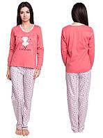 Пижама женская домашняя хлопковый комплект кофта с брюками из интерлока fd130d76b2216
