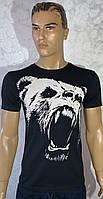 Мужские турецкие чёрные футболки с медведем
