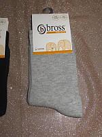 Р. 31-33 ( 7-9 лет ) носочки детские Bross демисезонные ОДНОТОННЫЕ серые