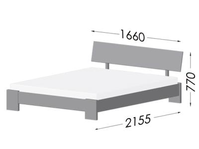 Габарити ліжка Титан (Бук)