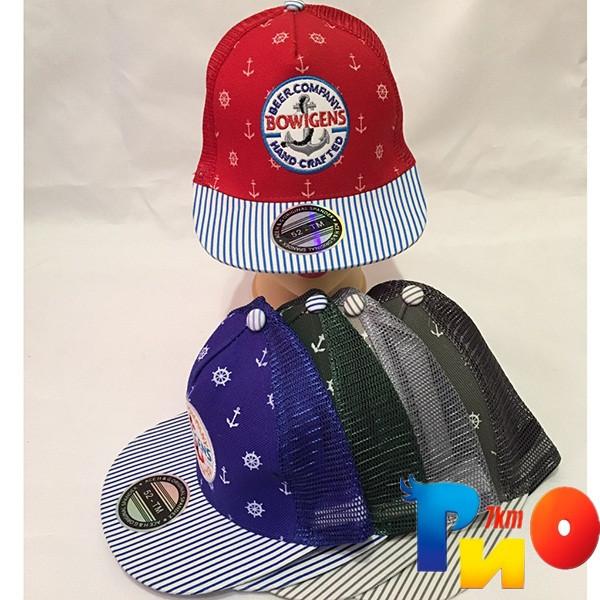 Детская  летняя кепка (РЭП) для мальчика р-р 52 (5 ед в уп) NA_8454
