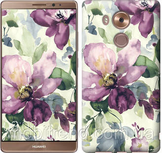 Чехол на Huawei Mate 8 Цветы акварелью