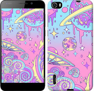Чехол на Huawei Honor 6 Розовая галактика
