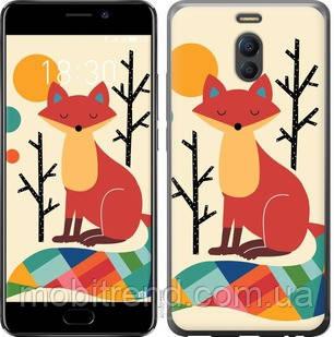 Чехол на Meizu M6 Note Rainbow fox