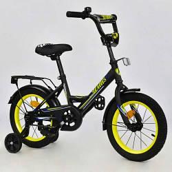 """Детский двухколесный велосипед 14 дюймов R 1416 """"WILLIS"""" (1) без ручного тормоза, доп. колеса"""