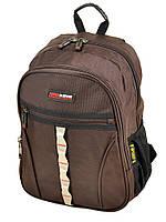 Коричневый городской рюкзак 8823 coffee, фото 1