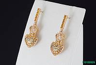 """Серьги """"Chanel"""" с кристаллами Stellux™ (Swarovski), покрытие золото"""
