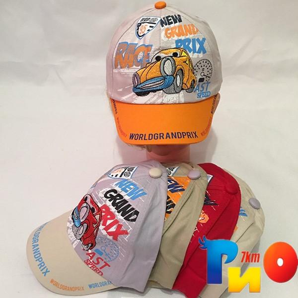 Детская  летняя кепка (100% cotton) для мальчика р-р 50 (5 ед в уп) NA_9138