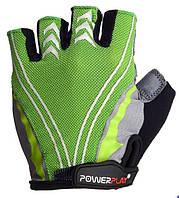 Велоперчатки PowerPlay green/grey