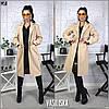 Пальто женское прямое кашемировое на подкладкеуни 42-44, фото 2