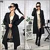 Пальто женское прямое кашемировое на подкладкеуни 42-44, фото 6