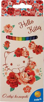 Карандаши цветные Hello Kitty, 12 цветов, фото 2