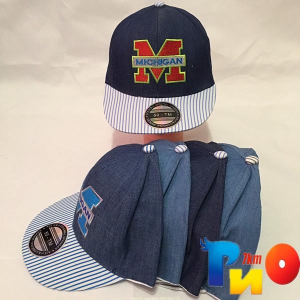 Детская  летняя кепка (РЭП) для мальчика р-р 50 (5 ед в уп) NA_9255