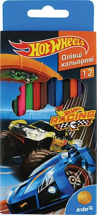 Карандаши цветные Hot Wheels, 12 цветов, фото 2