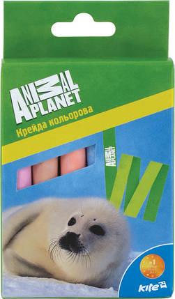Мел цветной Kite 12шт. Animal Planet, фото 2