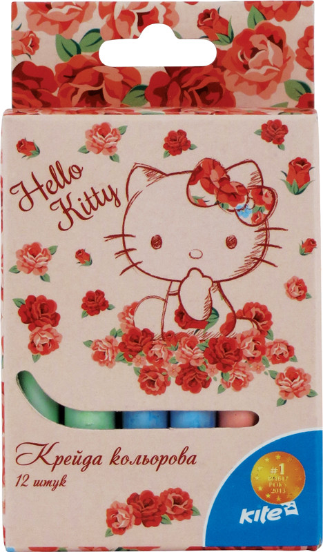 Мел цветной Kite 12шт. Hello Kitty