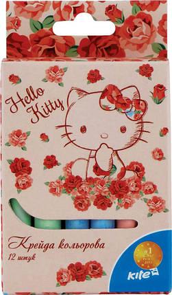 Мел цветной Kite 12шт. Hello Kitty, фото 2