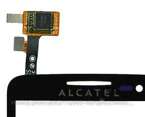 Тачскрин (сенсор) Alcatel 5035, 5035D One Touch X'Pop, black (чёрный), фото 2