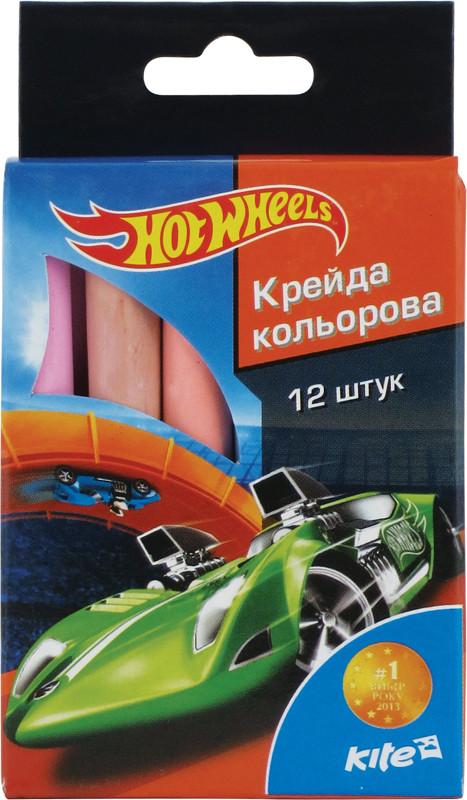 Мел цветной Kite 12шт. Hot Wheels