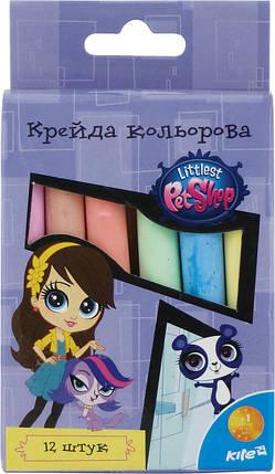 Мел цветной Kite 12шт. Pet Shop, фото 2