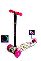 Детский самокат Maxi Scale Scooter Бабочки