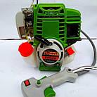 Бензокоса ProCraft T-5600 4-х тактний двигун! 3 ножа + 1 шпуля з волосінню. Бензокоса ПроКрафт, фото 2