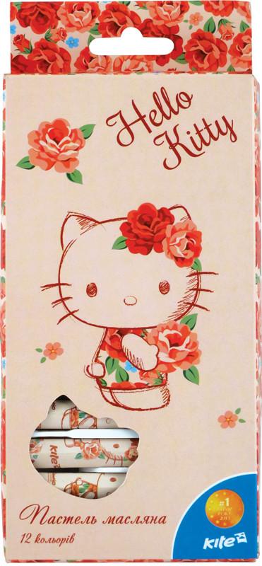 Пастель масляная Kite 12 цветов Hello Kitty