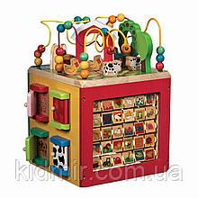 Розвиваюча дерев'яна іграшка Зоо куб Battat