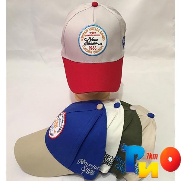 Детская  летняя кепка (100% cotton) для мальчика р-р 52 (5 ед в уп) NA_8143